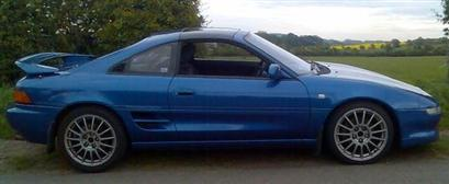 The Blue Dolphin - Toyota GT-S T bar Rev 3 95 model with evo 6 OZ wheels